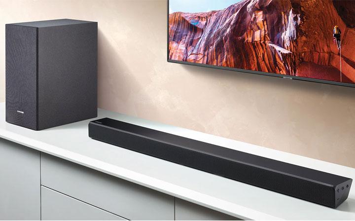 Loa Soundbar Samsung 320W 2.1 HW-R550 cho âm thanh ấn tượng