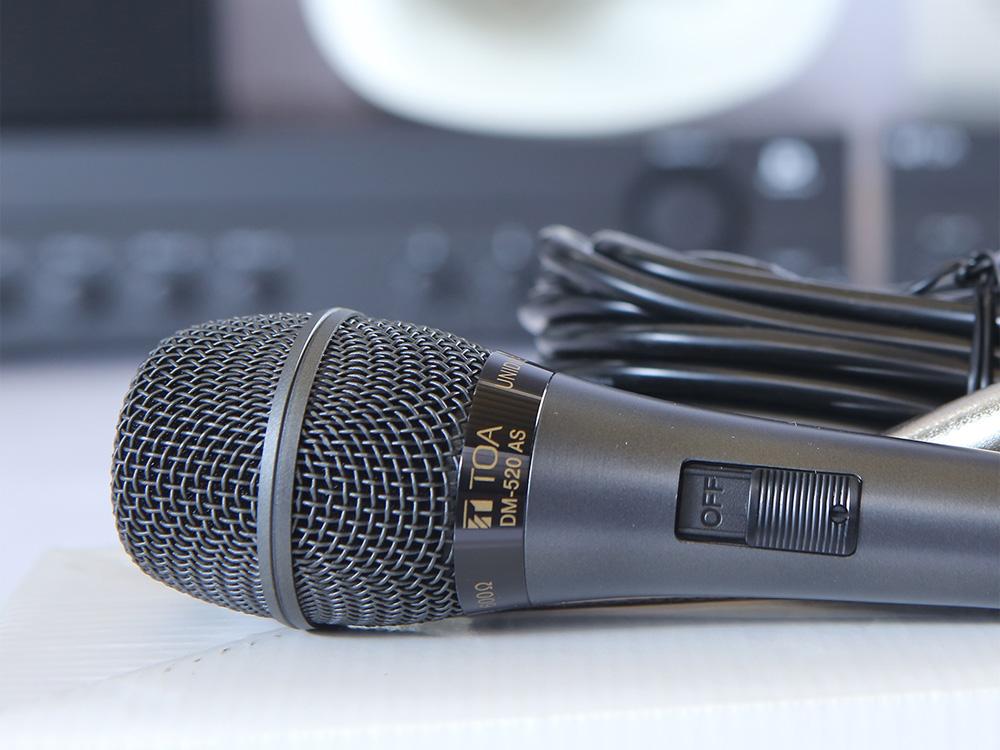Vị trí nút điều chỉnh mic