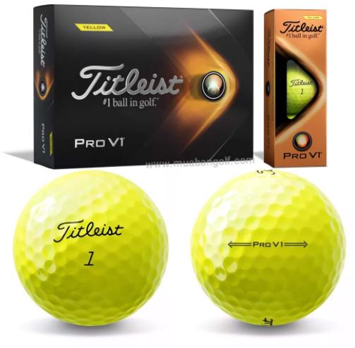 Bóng golf màu vàng