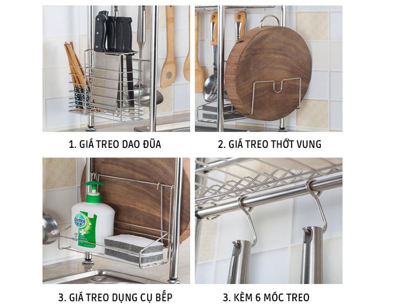 Giá giúp phân loại dụng cụ nhà bếp một cách khoa học