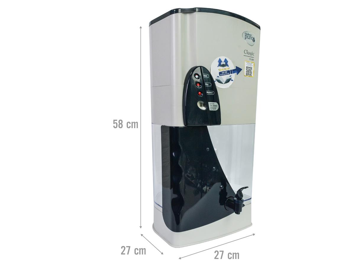Kích thước máy lọc nước Pureit Classic
