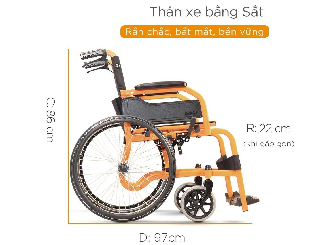 Kích thước của xe lăn