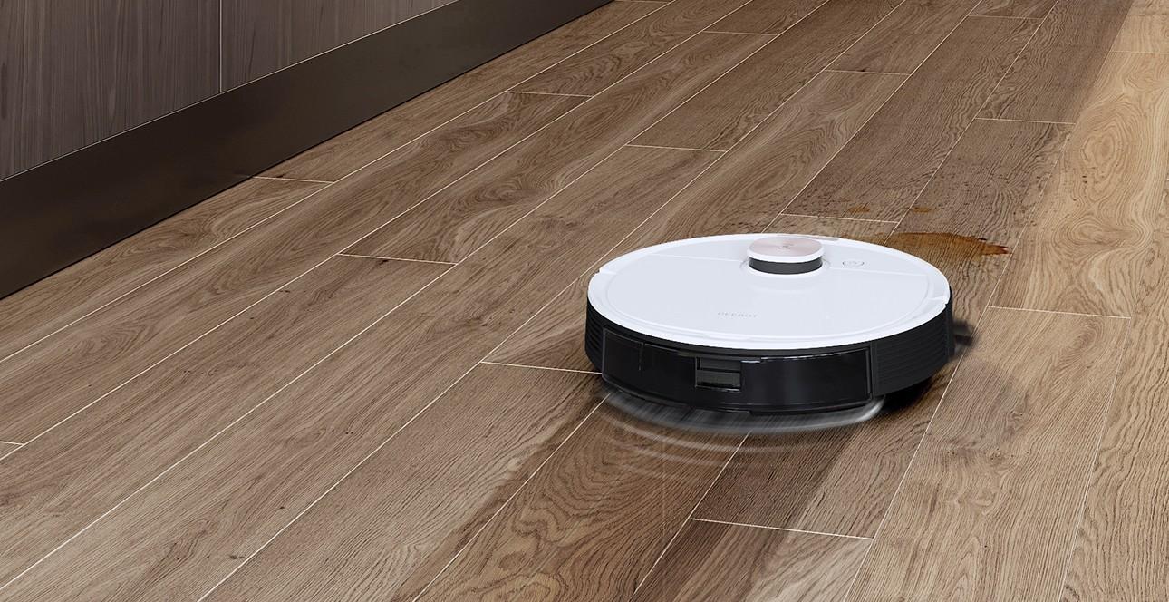 Robot hút và lau nhà sàn gỗ hiệu quả