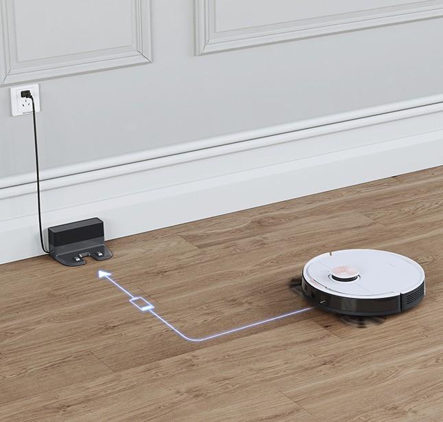 Robot tự về đế sạc pin