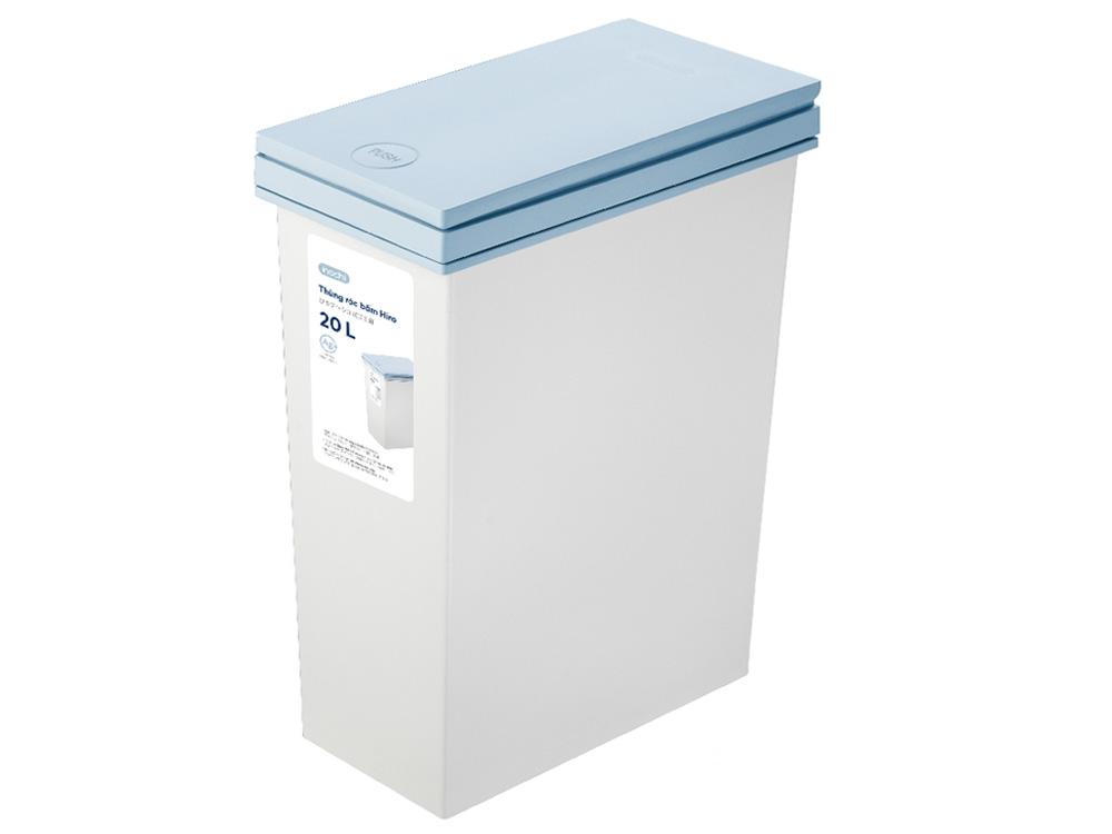 Hình ảnh thùng rác bấm Hiro 20L HIN.RABA.0020