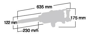 Kích thước của súng vặn ốc