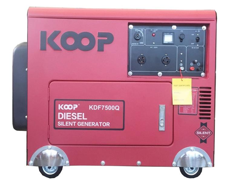 Hình ảnh máy phát điện chạy dầu 5Kw Koop KDF7500Q