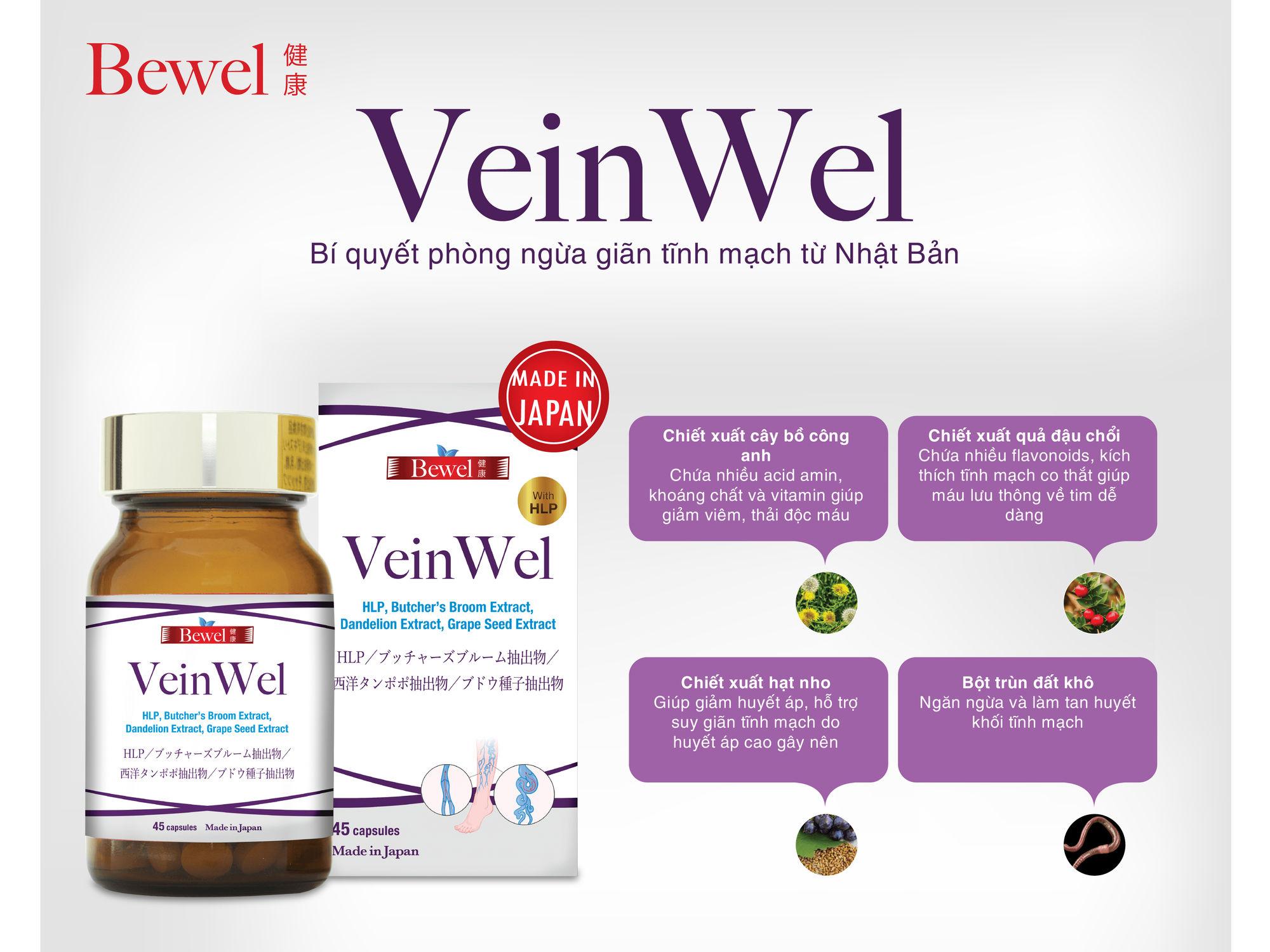 Bewel Veinwel phòng ngừa giãn tĩnh mạch