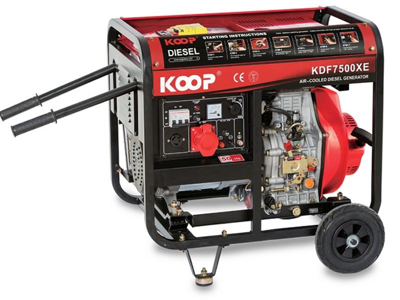 Hình ảnh máy phát điện chạy dầu 5Kw Koop KDF7500XE