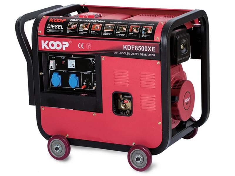 Hình ảnh máy phát điện chạy dầu 6kw Koop KDF8500XE