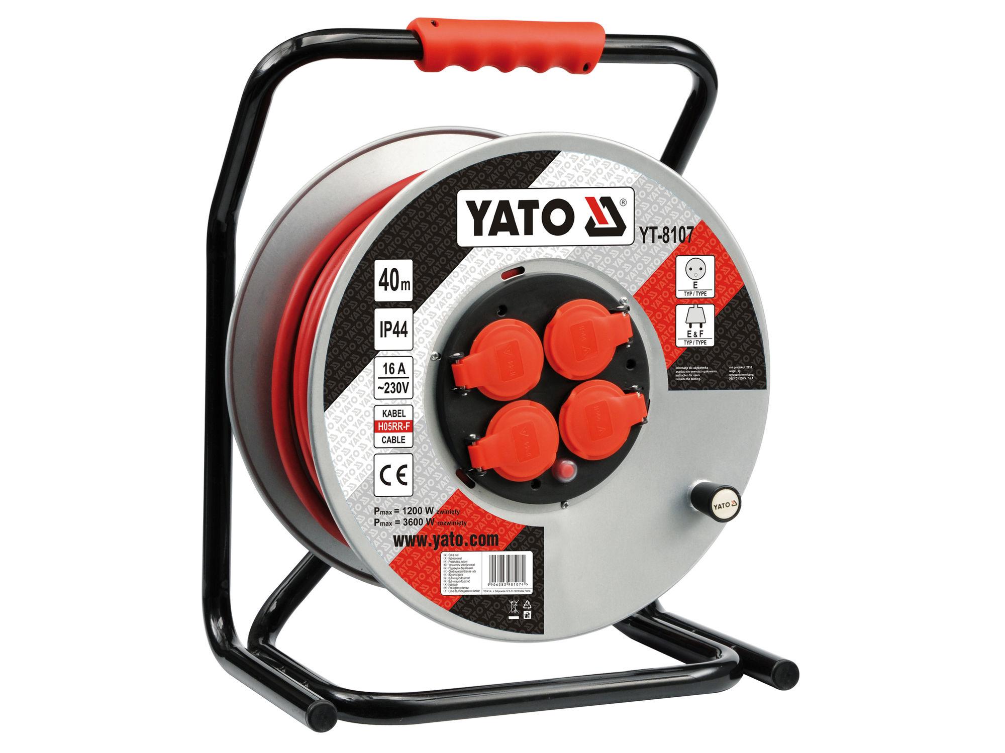 Cuộn dây điện rulo 40m Yato YT-8107