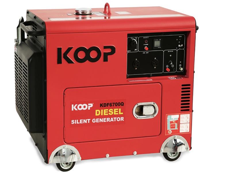 Hình ảnh máy phát điện chạy dầu 5Kw Koop KDF6700Q chống ồn