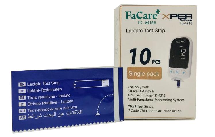 Hộp 10 que thử Lactate và kim lấy máu FC-M168
