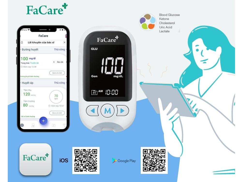 Máy đo đường huyết 5 trong 1 FaCare