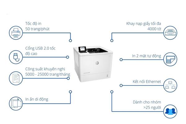 Chức năng chính của MÁy in HP M608DN