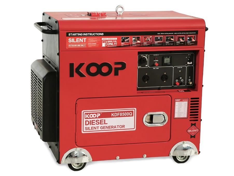 Máy phát điện chạy dầu Koop KDF8500Q