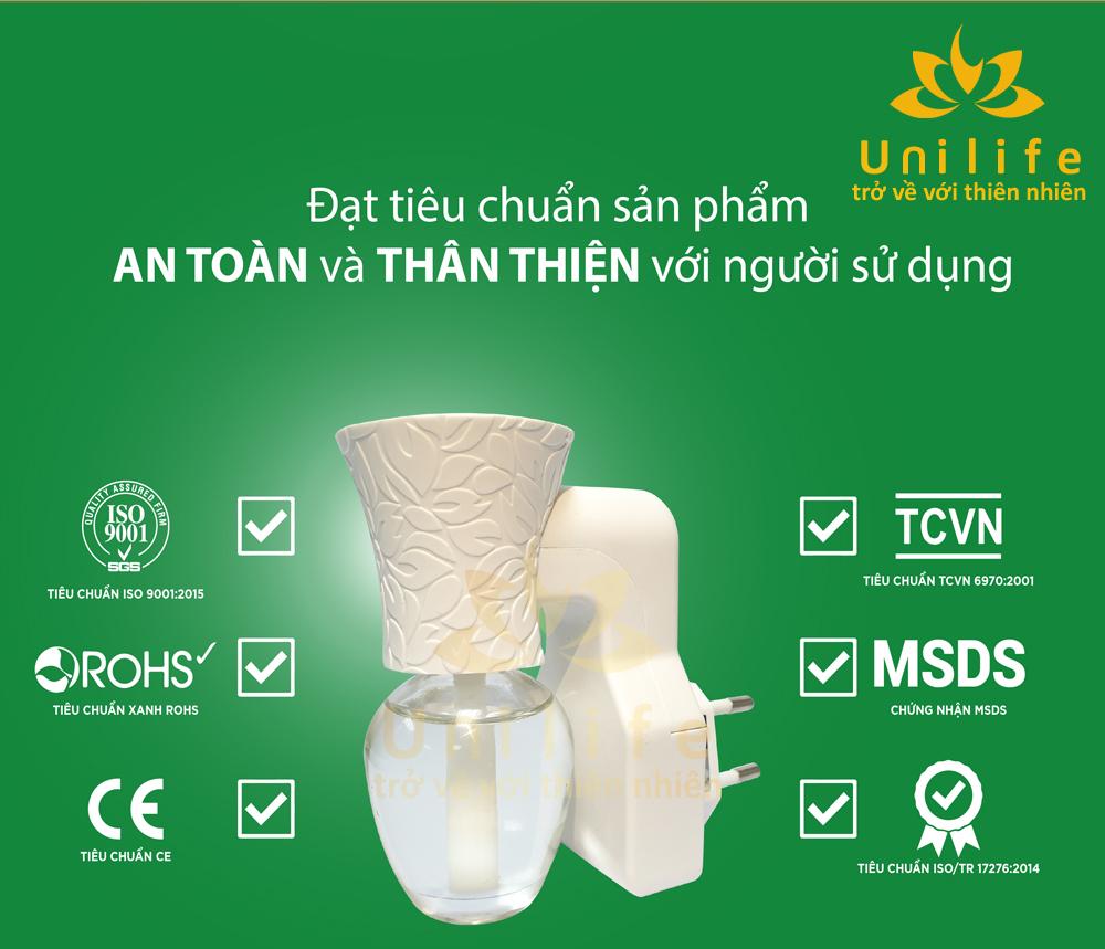 Sản phẩm bộ khuếch tán tinh dầu nước hoa đã đạt nhiều tiêu chuẩn về độ an toàn