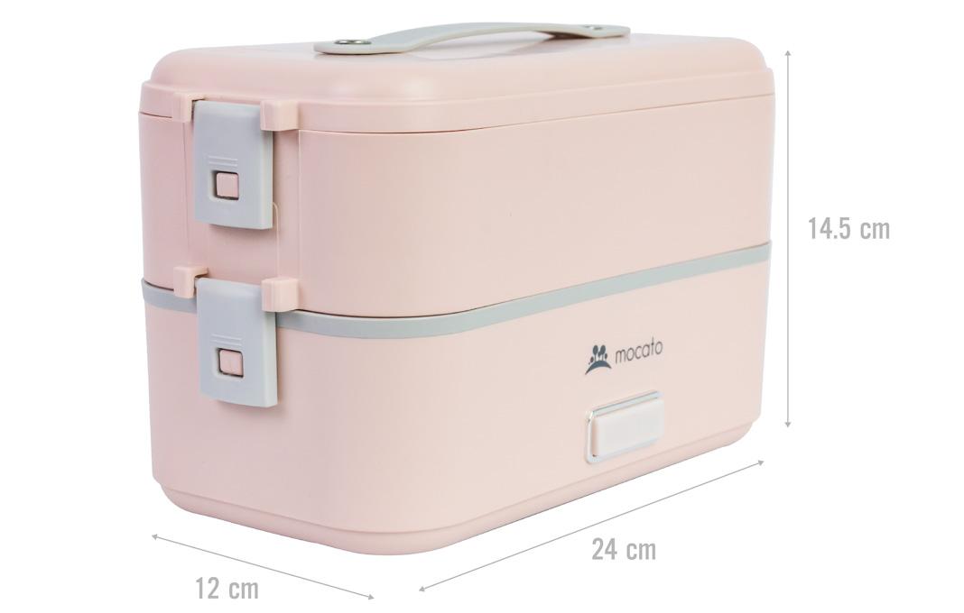 Hộp cơm điện 2 tầng Mocato M601 màu hồng