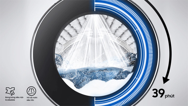 Máy giặt lồng ngang WW90TP54DSB/SV