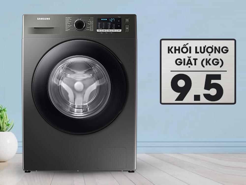 Khối lượng giặt là 9.5kg