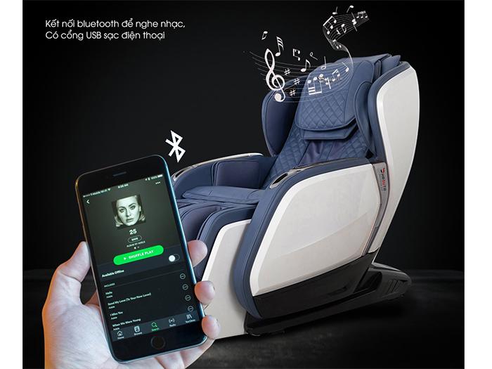 Ghế massage có thể kết nối với điện thoại