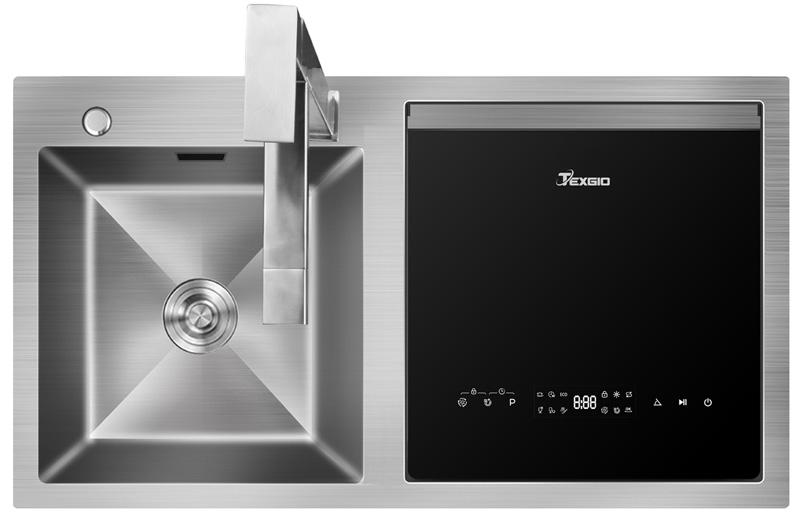 Hình ảnh máy rửa bát kết hợp chậu rửa Texgio TGWFS64B