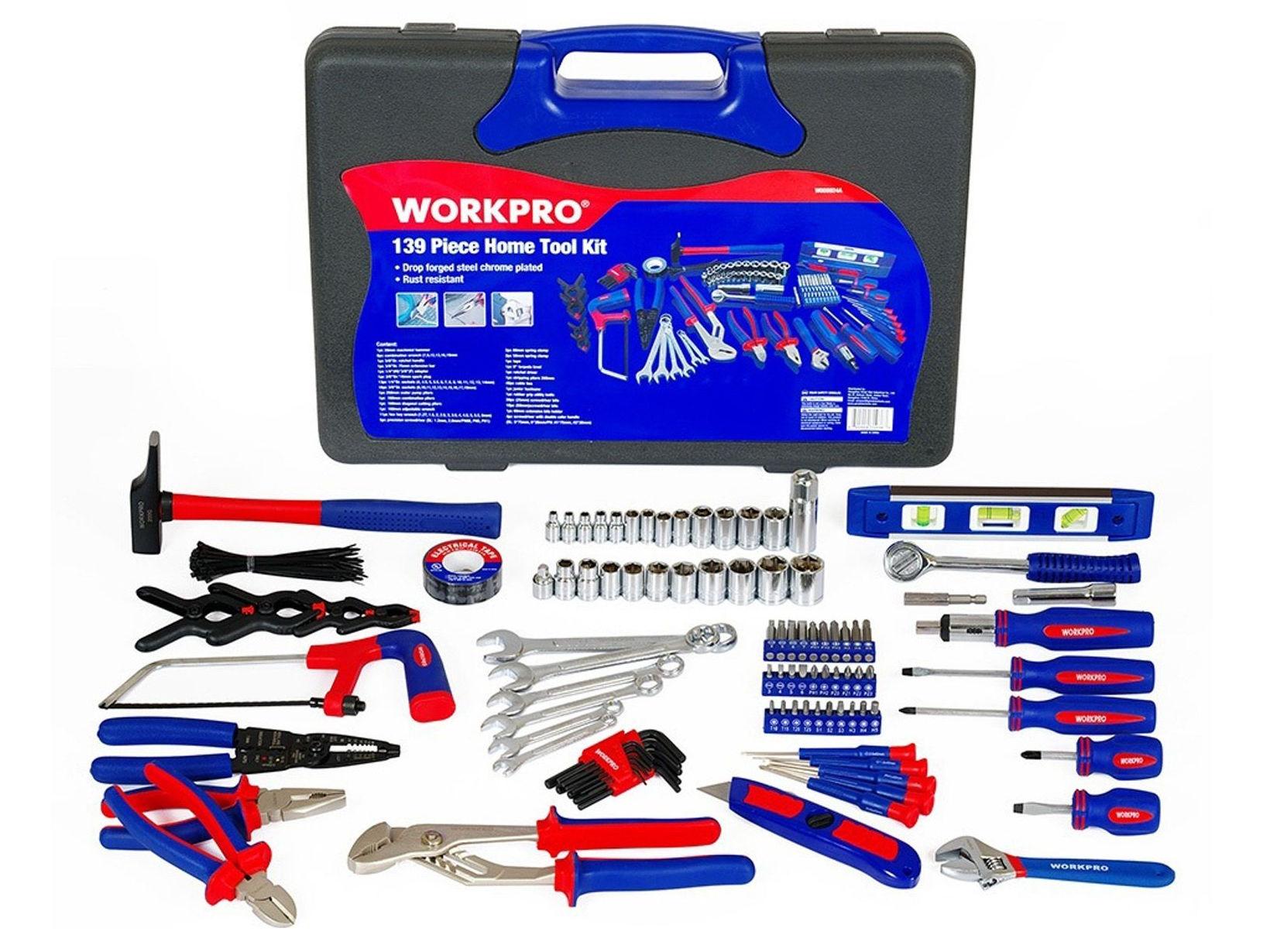 Bộ dụng cụ 139 chi tiết Workpro W00902