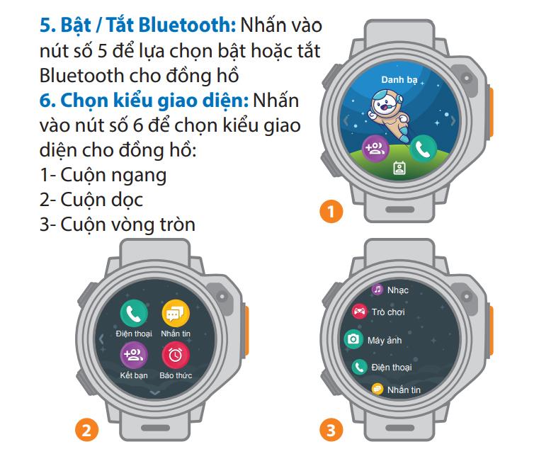 Bật/tắt Bluetooth cho đồng hồ định vị