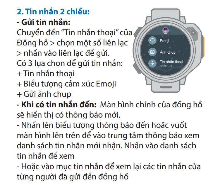 Đồng hồ gửi tin nhắn 2 chiều