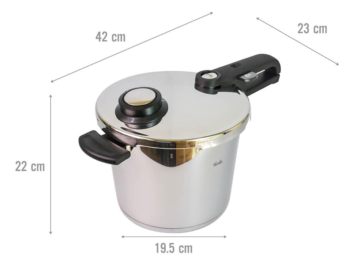 Kích thước của nồi áp suất Fissler Vitavit Premium 6 lít