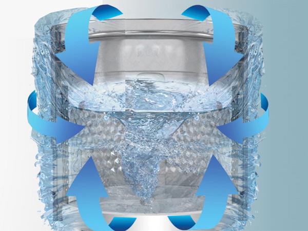 Hệ thống 3 luống nước tăng hiệu quả làm sạch