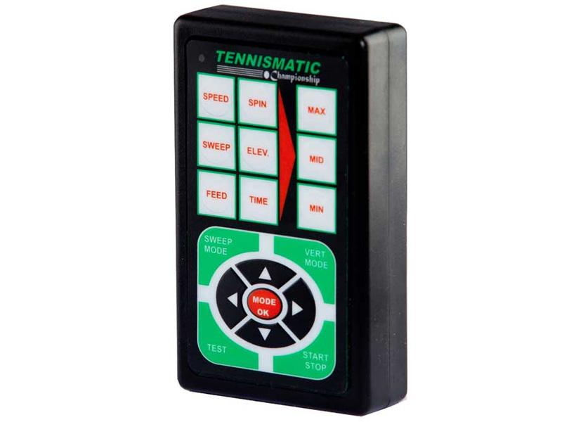 Remote cho phép điều chỉnh tốc độ bóng và điều hướng bóng