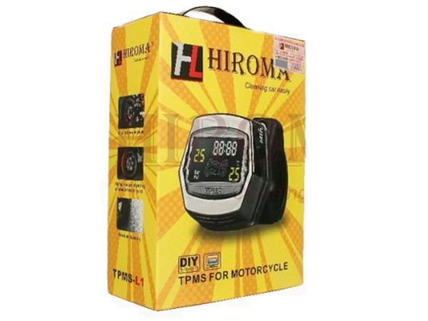 Hình ảnh thiết bị báo áp suất lốp xe máy chính hãng Hiroma