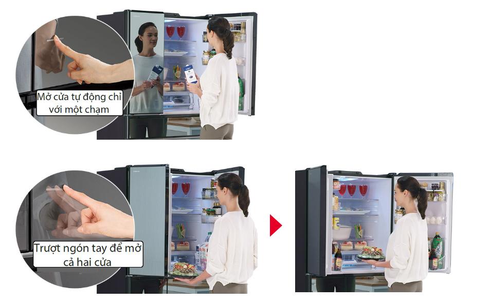 Tủ lạnh cửa mở tự động