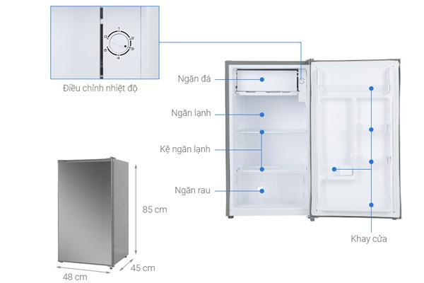 Tủ lạnh mini Beko 93 lít RS9051P