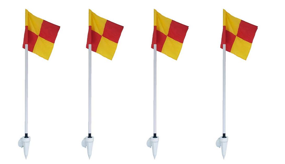 Hình ảnh bộ 4 trụ cờ góc sân bóng đá Sodex S12350