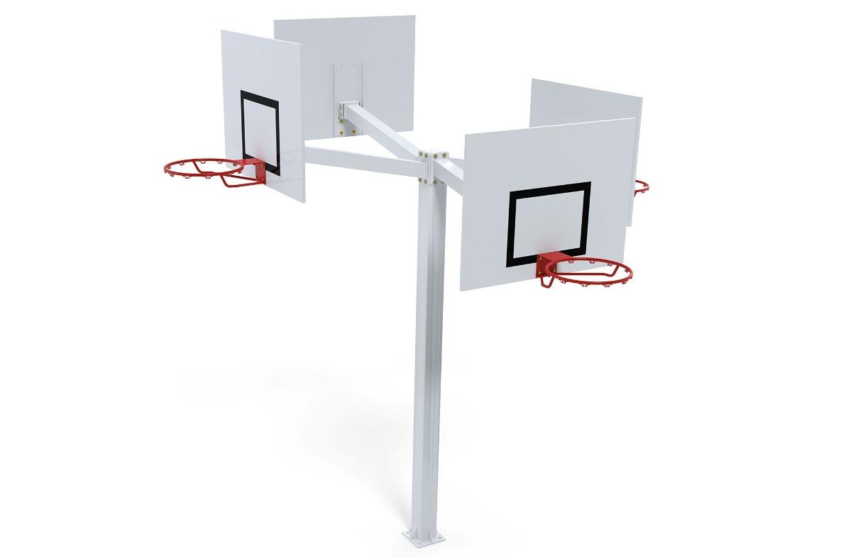 Hình ảnh tháp bóng rổ đặt nổi cố định ngoài trời Sodex Sport S14090GC