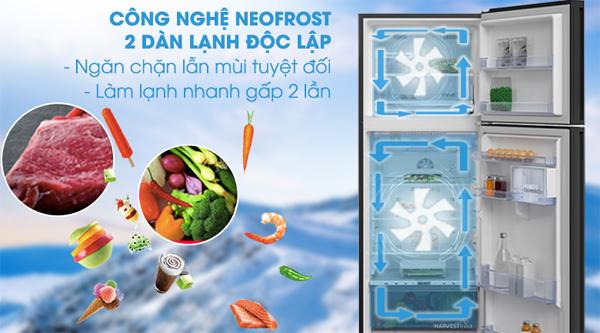 Tủ lạnh 2 cánh Beko Inverter 375 lít RDNT401E50VZGB