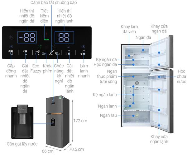 Tủ lạnh Beko Inverter 375 lít RDNT401E50VZDK
