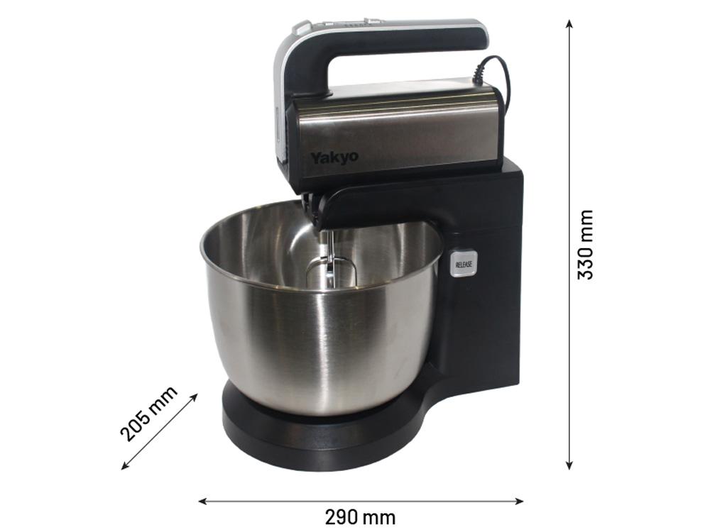Kích thước của máy trộn bột