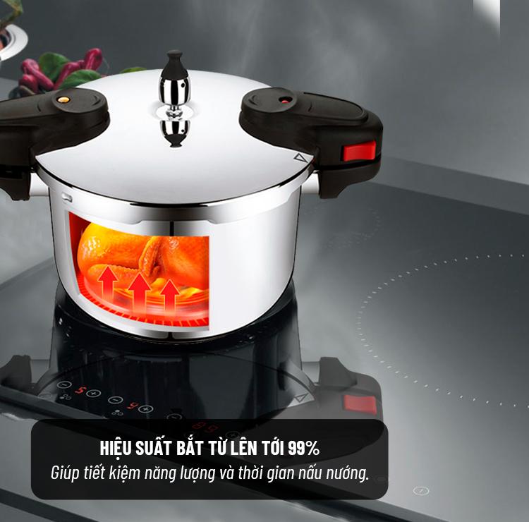 nồi áp suất inox cho bếp từ