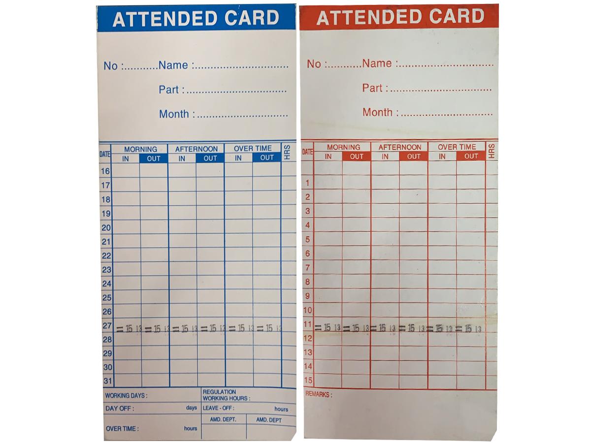 thẻ giấy của máy chấm công Kings Power (100 thẻ/cọc)