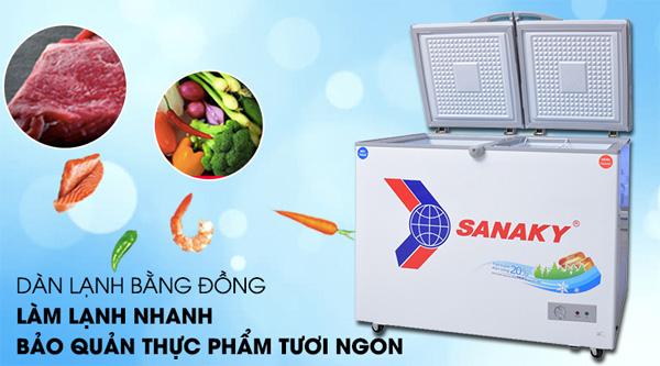 Tủ đông 1 ngăn 2 cánh mở Sanaky VH 4099A1
