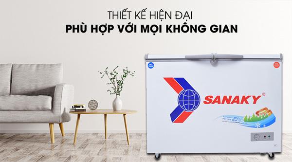 Tủ đông 2 ngăn 2 cánh mở Sanaky VH 2899W1