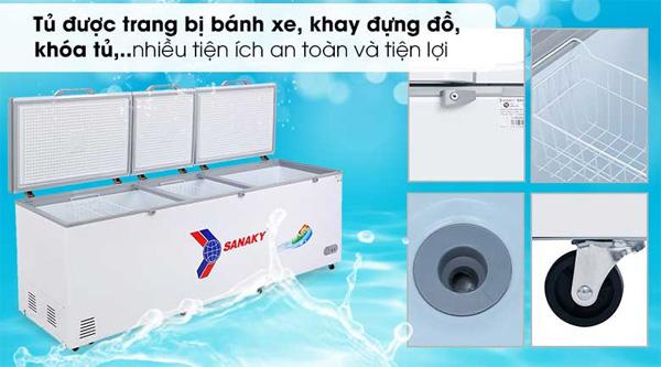 Hình ảnh Tủ đông inverter một ngăn ba cánh mở Sanaky VH-1199HY3