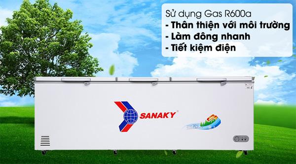 Tủ đông inverter một ngăn ba cánh mở Sanaky VH-1199HY3
