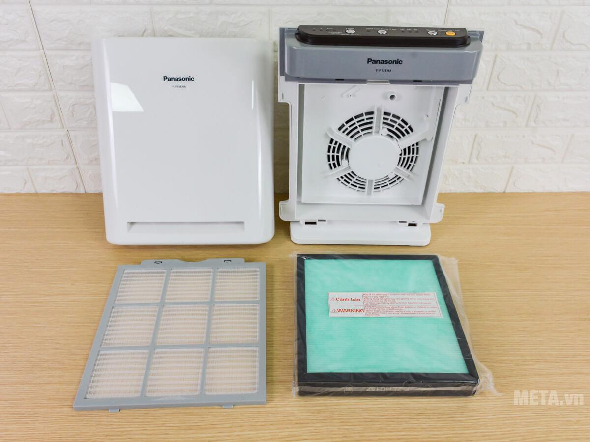 Bộ sản phẩm đầy đủ của máy lọc không khí Panasonic