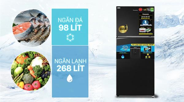 Tủ lạnh Panasonic Inverter 366 lít NR-TL381GPKV Mới 2021