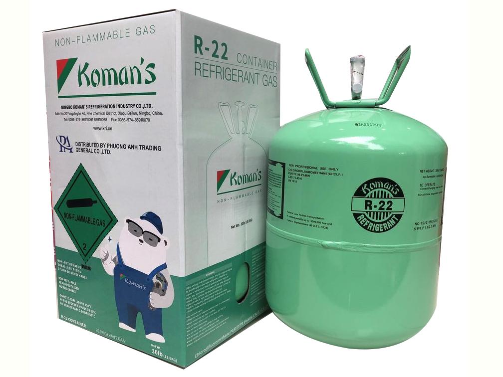 Gas lạnh Koman's R22 bình 13.6kg