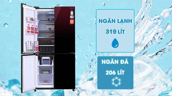 Tủ lạnh Sharp Inverter 525 lít SJ-FXP600VG-MR